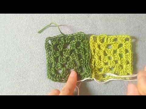 Schemi e tutorial mattonelle a uncinetto