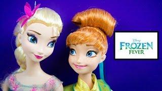 Anna & Elsa Disney Frozen Fever Dolls Snowgies by Kinder Playtime