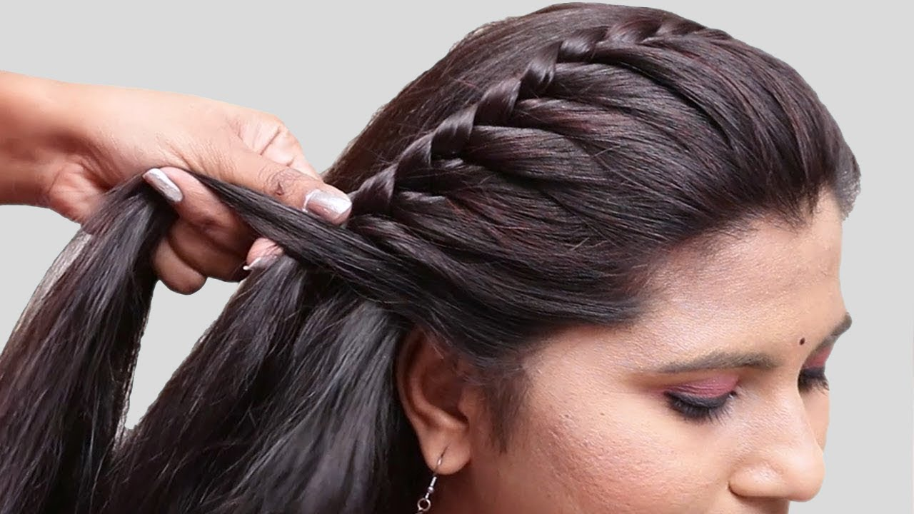 5 Easy Braided Hairstyles For Party/wedding
