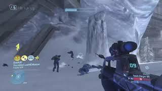 Halo 3 BIG Team Battle KILLTACULAR RUNNING RIOT! (Clip #4)