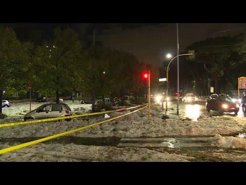 شاهد: ضواحي روما الشرقية تغرق  - نشر قبل 21 دقيقة