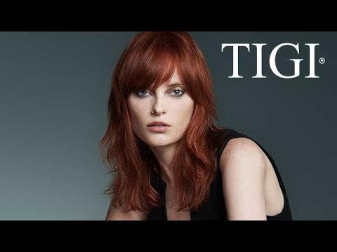 How To: Interior Flow | Layered Hair with Fringe | Cut & Style | TIGI Copyright | #copyrightyourhair