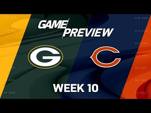 Green Bay Packers vs. Chicago Bears | NFL Week 10 Game Preview | NFL Playbook