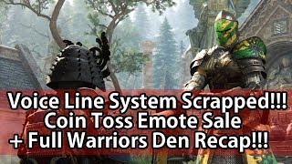 For Honor - Voice Lines System Delayed, Coin Toss Emote Sale + Full Warriors Den Recap!