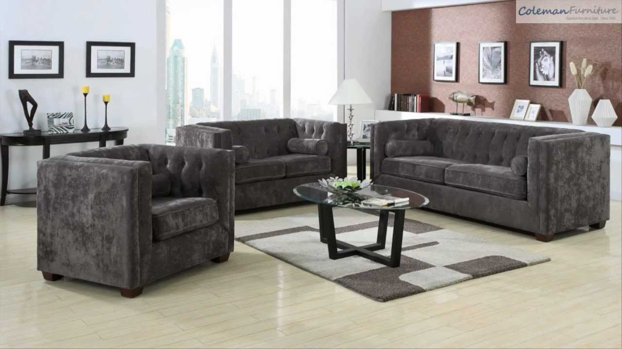 Superb Alexis Charcoal Living Room Collection From Coaster Furniture