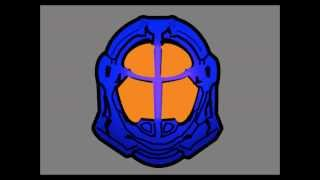 Cartoon Halo 4 Helmets.