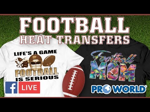 Football Heat Transfers