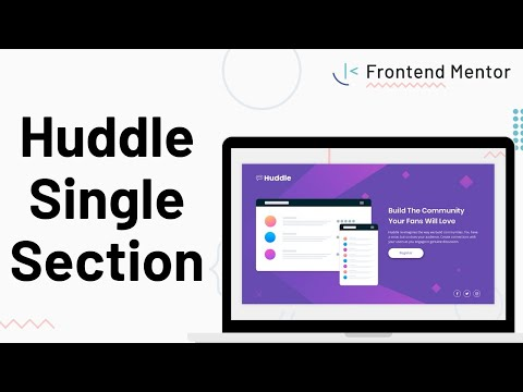 Huddle Single Section - Design To HTML/CSS