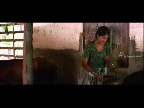 Nanthanam Malayalam Movie | Malayalam Movie | Navya Nair | Cleans Cowshed