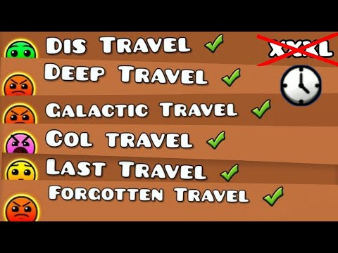 TRAVEL LEVELS But Non XXXL Levels | Geometry Dash Partition (Short Travels)