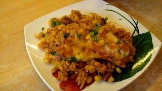 Мексиканская куриная лазанья, вкусно и полезно