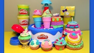 play doh huge ★ cake ice cream confections playset ★40 accessories hasbro sweets shoppe