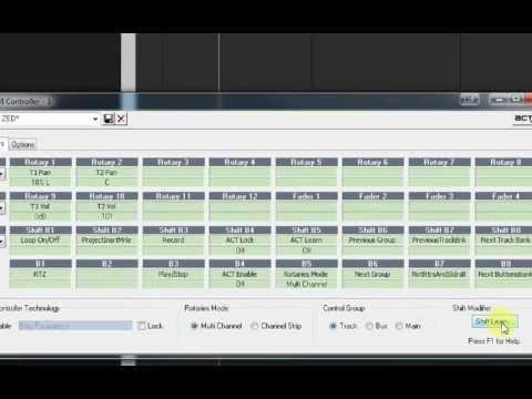 Sonar X1 - ACT setup