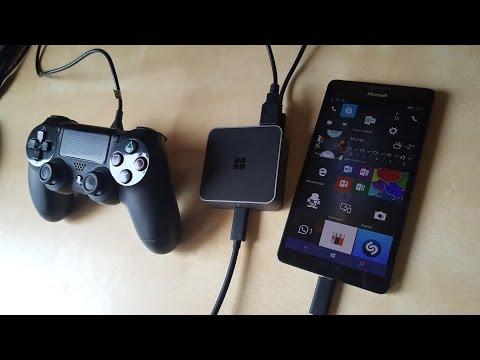 Можно ли подключить джойстик от PS4 к Lumia 950?