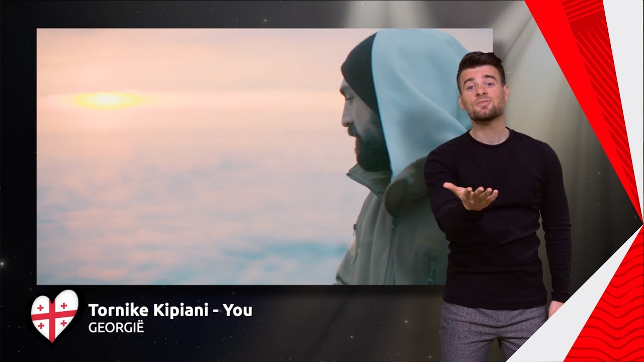 Tornike Kipiani - You   Georgië 🇬🇪   Sign dance   ESC21