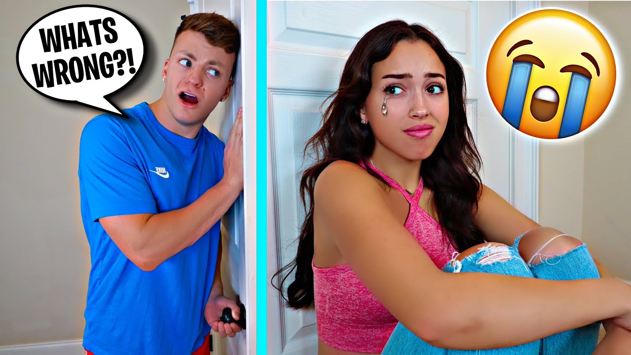 CRYING WITH THE DOOR LOCKED!! *PRANK*