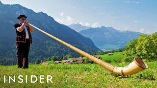 How to Play The Alphorn + Make Cowbells In Switzerland | Travel Dares S2 Ep 8