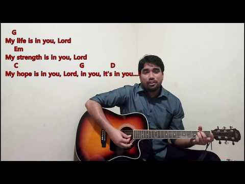 My life is in you lord...! (English and Hindi version) - Worship song...! Guitar Tutorial..!
