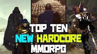 """TOP TEN NEW """"HARDCORE MMORPG"""" 2017 - 2018"""