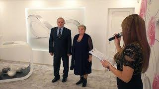 У оновленому залі Бориспільського ДРАЦС подружжя відсвяткувало «золоте весілля»
