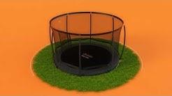 EN 1176 hyväksytty maantasalle asennettava Avyna Pro-line trampoliini