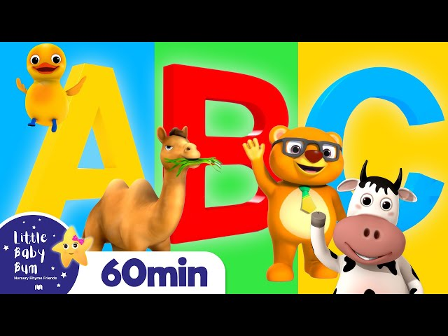 ABC Phonics Animals Song | +More Nursery Rhymes and Kids Songs | ABC and 123 | Little Baby Bum