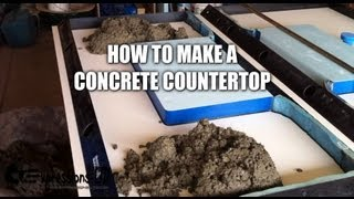 Making a Concrete Countertop with Sink- Complete Steps thumbnail
