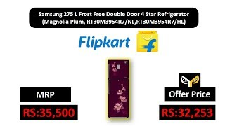 Samsung 275 L Frost Free Double Door 4 Star(Magnolia Plum, RT30M3954R7/NL,RT30M3954R7/HL)