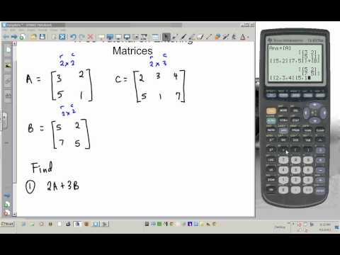 TI 83 tutorial entering matrices