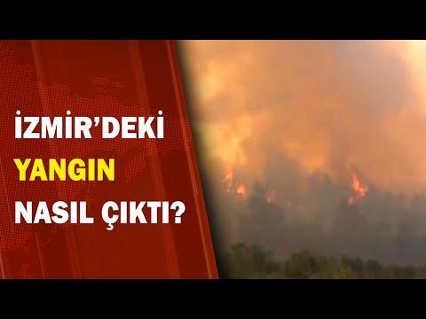 İzmir'de 400 Hektar Yangından Zarar Gördü! / A Haber