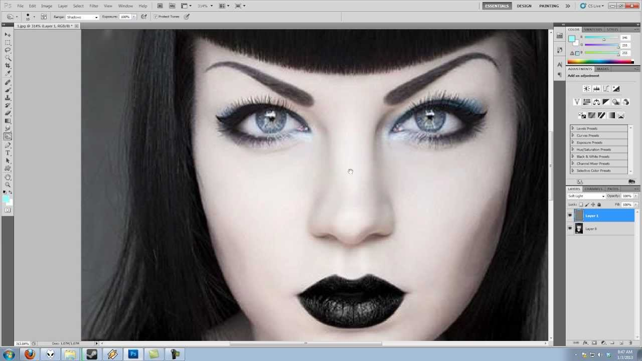 Photoshop Smart Way To Use Dodge Burn Tool For Highlights And