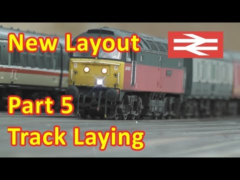 New Layout Build - Track Laying
