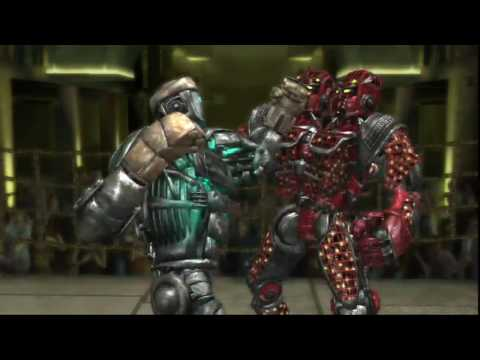 Real Steel ATOM vs Twin Cities(robot Boxing)