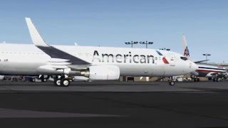 FSX [HD] - American Airlines | 737-800 | Approach to San Diego
