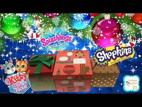Shopkins Kitty In My Pocket Splashlings Blind Bags Toys Surprise Christmas Gifts | ChickadeeChirps