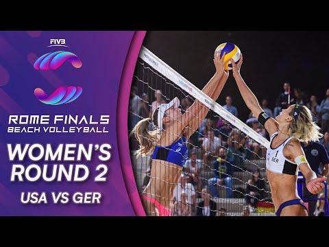 USA vs. GER | Women's Round 2 | Beach Volleyball World Tour Finals 2019
