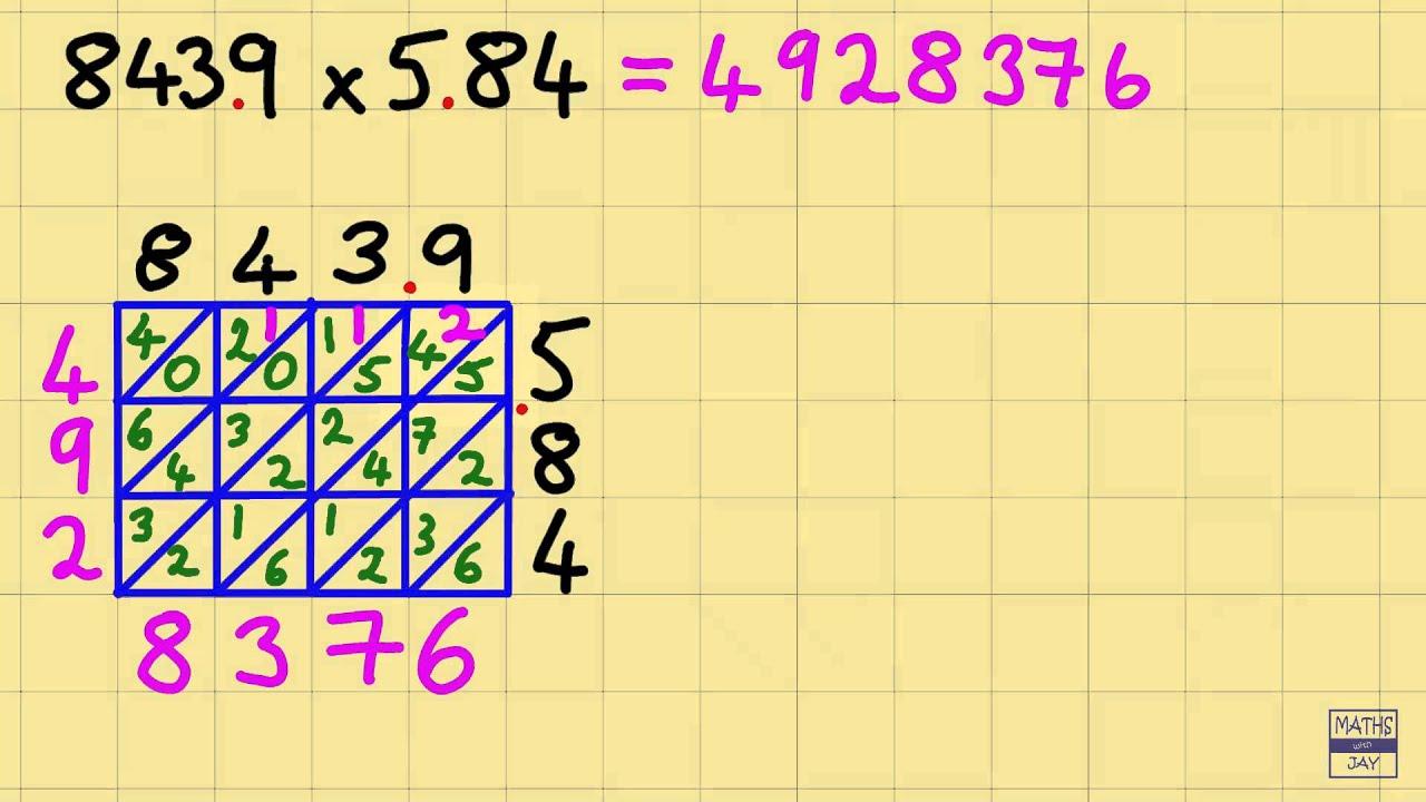 lattice multiplication with decimal points  youtube lattice multiplication with decimal points
