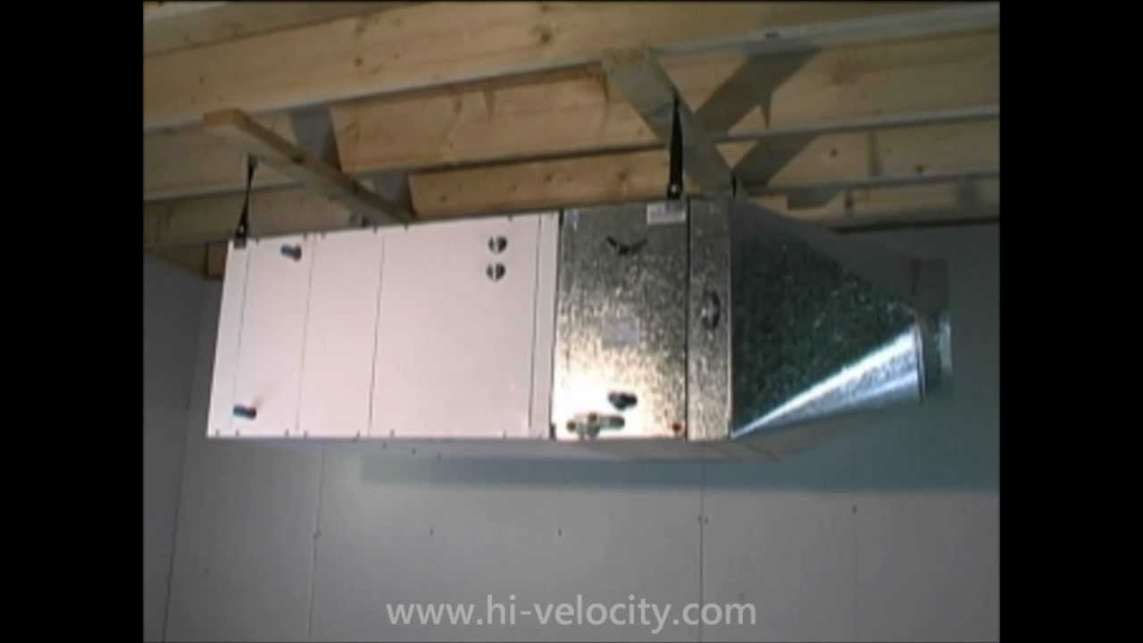3 5 Ton Ac Unit >> Hi-Velocity Installation Part 04 - Installing the Fan Coil - YouTube
