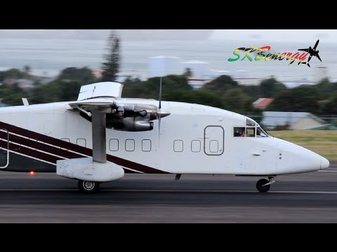 Air Cargo Carriers Short 360 departing St. Kitts Robert L. bradshaw Int'l Airport