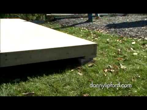 How To Build The Foundation For A Storage Shed Youtube