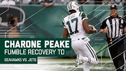 Jets Charone Peake Takes Ryan Fitzpatrick's Fumble 40 Yards for a TD! | Seahawks vs. Jets | NFL