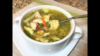 Куриный Суп с Сырными Клёцками, ВКУСНО И ПРОСТО! Любимый семейный рецепт.