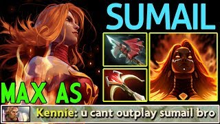 CRAZIEST OUTPLAY ! MAX ATTACK SPEED Lina by SumaiL Dota 2 7.07c Sub...