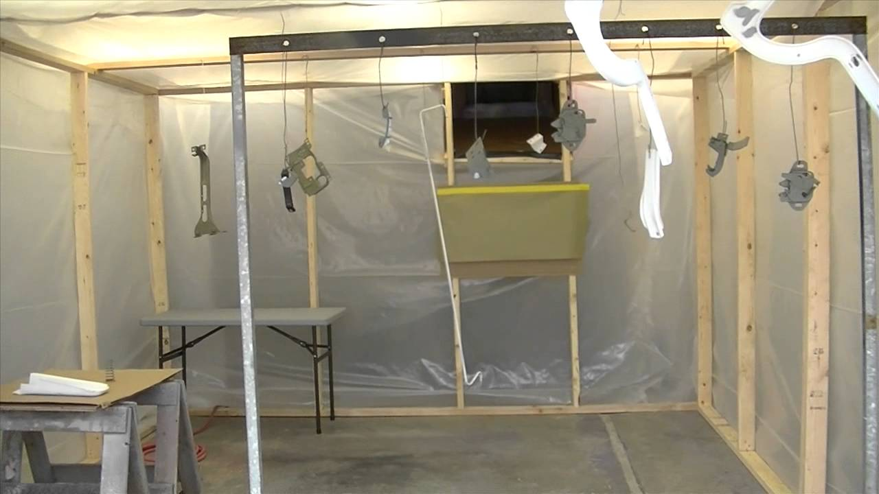 Paint Booth setup in a Garage - YouTube