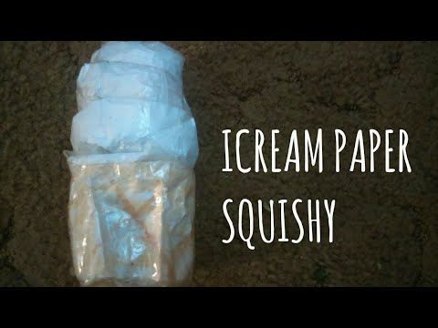 DIY 3D ICE-CREAM PAPER SQUISHY I100 SUBS!!!