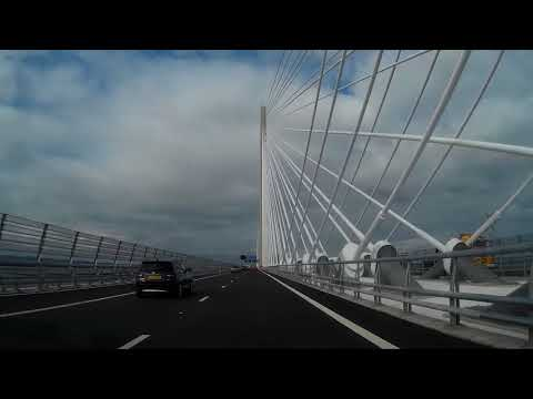 First Sunny Drive North Across Queensferry Crossing Firth Of Forth Scotland