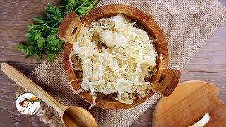 Квашеная капуста на зиму – кладезь витаминов. Пошаговый рецепт приготовления.