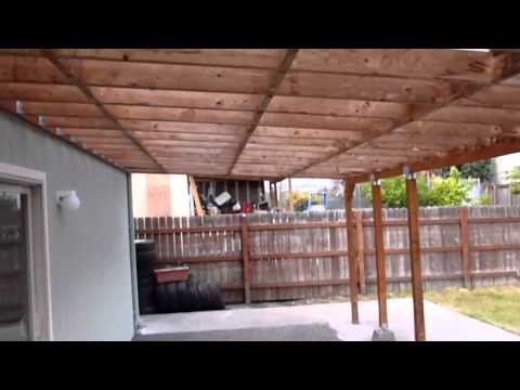 How To Build A Patio Cover (must Watch)   YouTube