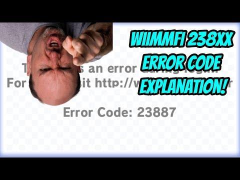 Wiimmfi: Error Code 238XX Explanation.