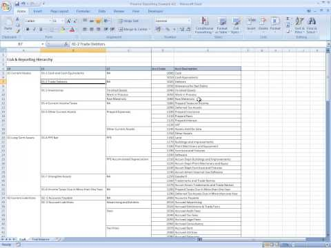 Financial Reporting using Pivot Table Part 1